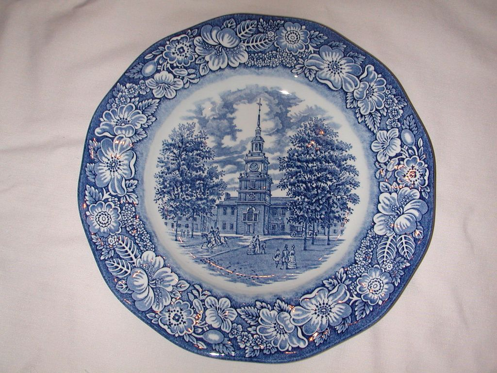 Staffordshire Liberty Blue Dinner Plate.