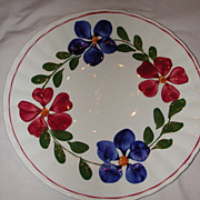Blue Ridge Pottery Colette Dinner Plate.