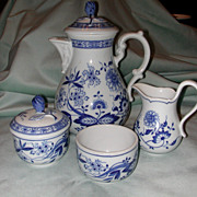 Hutschenreuther Blue Onion 6 Piece Coffee Service.