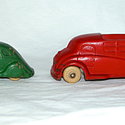 REDUCED Sun Rubber Toy Company Car and Futuristic Truck