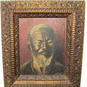 Antique -Oil Painting of an African American Man, signed Lingel