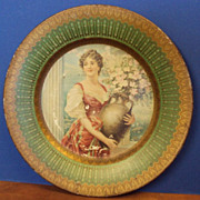 "Antique - Lithographed Tin Plate ""Capri"" Royal Saxony  1907"