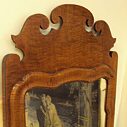 Queen Anne Curly Maple Mirror circa. 1730's - 1760's