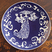 Royal Copenhagen Danish Mother's Day Plate, Mors Dag 1972