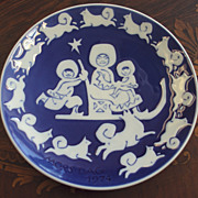 Royal Copenhagen Danish Mother's Day Plate, Mors Dag 1974