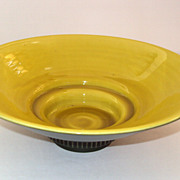 Rookwood Yellow and Green Bowl ca.1939 style #6723