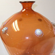 Dorflinger Opalescent Art Glass Vase Very Rare