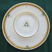Wonderful Hand Painted Porcelain Two Tier Server by Pickard with Shamrocks