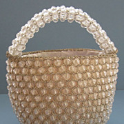 Fabulous Clear Beaded Vintage Evening Purse by Rosenfeld