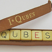 Bakelite, Vintage I Qubes Crossword Game