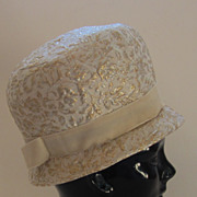 Fabulous Vintage Cloche Brocade Hat
