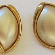 Lovely Vintage Napier Gold Tone Pierced Earrings