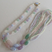 Wonderful Vintage Multi Color Quartz Necklace