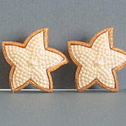 Vintage Starfish Shaped Pierced Earrings