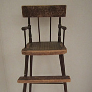 18th Century Salesman Sample High Chair