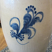 A K Ballard Butter Churn Burlington VT Stoneware