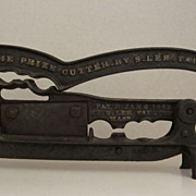 19th Century Cast Iron Tobacco Cutter - Taunton, MA