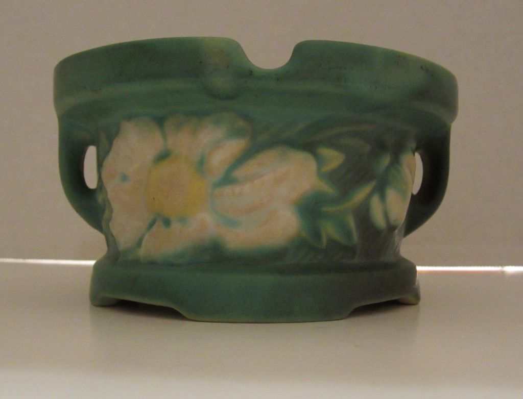 Roseville Peony Ashtray