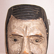 19th Century Hand Carved Wooden Mexican Mask