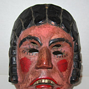 19th Century Wooden Hand Carved Mexican Mask