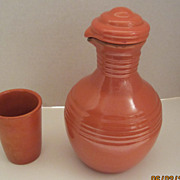 Catalina Pottery Water Pitcher and Cup