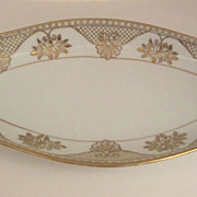 SALE Noritake Celery Dish with Raised Gold