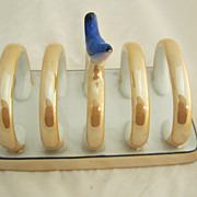 SALE Noritake Luster Toast Rack with Figural Bird
