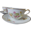4  Limoges France Porcelain Teacup set c 1920