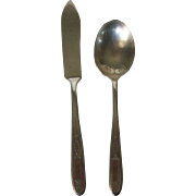 Vintage  Onieda Community Grosvenor Pattern Butter Knife and Sugar Spoon 1920s