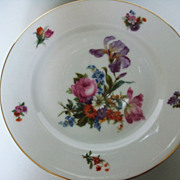 Dresden by Pirkenhammer set of 4 Desert Plates c 1949