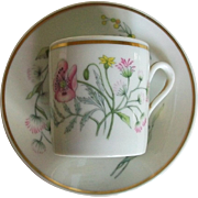 Richard Ginori Demitasse teacup and saucer, Italy