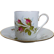 Rosenthal Classic Rose Demitasse Cup and Saucer set of 4 c 1950s
