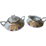 PT Bavaria Antique Sugar and Creamer c 1908