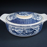 Royal China Currier & Ives Tab Handle Casserole/ Covered Vegetable