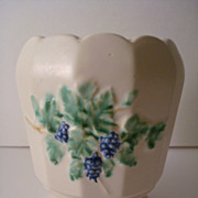Vintage McCoy Pottery ANTIQUE CURIO Footed Vase