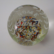"SOLD Vintage Blown Glass ""HOME SWEET HOME"" Paperweight"