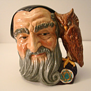 SALE Royal Doulton Large Size MERLIN Toby Mug Character Jug  D6529 Excellent!