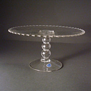 SOLD Imperial Candlewick Large Footed Cake Plate Stand (Stem #3400)