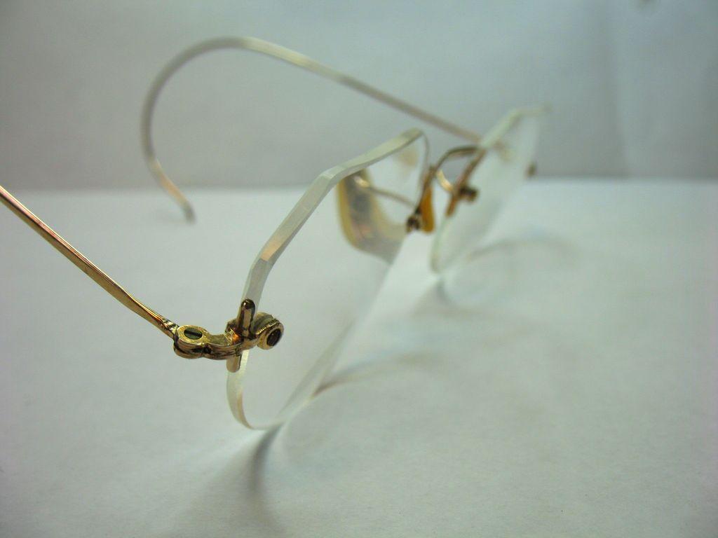 10k Gold Eyeglass Frames : Vintage Ful-Vue 10K Gold Filled Eyeglasses Fully Rimless ...