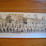 REDUCED WWI WW1 Panoramic Photo Army 449th Truck Co. Camp  Humphreys Va Engineers 1918