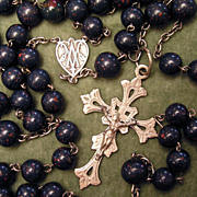Magnificent Antique Rosary - Gem Bloodstone & Silver - Large - 1800s - France