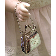 Adorable Vintage Doll Purse in Hallmarked Sterling Silver