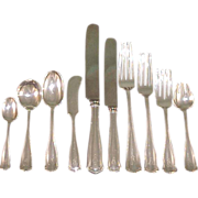Winchester by Shreve and Company 10 Piece Sterling Flatware Service for 10 Monogram