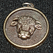 REDUCED Rare, Vintage Medallion: Hereford Cow Cow Cocktails, 1975