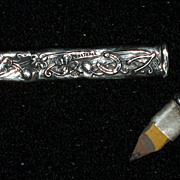 Lucky Sterling Silver Gambling Pencil, Victorian, Chatelaine Piece