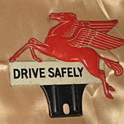 REDUCED AUTHENTIC Mobil Pegasus License Plate Topper