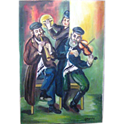 SALE Art_Judaica_Musicians_unframed