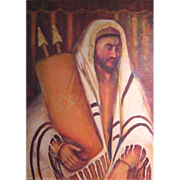SALE Art_Judaica_Simma_Finard_Man_with_Torah