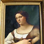 SALE Carlo Falcini after Sebastiano dela Piombo Portrait of a Woman from Galleria degli Uffizi