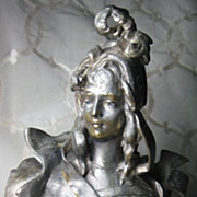 REDUCED Art Nouveau_Spelter_Sculpture_Ninon